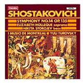 Shostakovich: Symphony no 14 / Turovsky, Holleque, Storojev