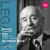 Brahms: Symphony No. 3; Elgar: Symphony No. 1 / Sir Adrian Boult