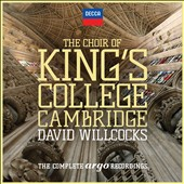 The Choir of King's College Cambridge: The Complete Argo Recordings, celebrating the tenure of David Willcocks (1957-1973), including 6 albums released here for the first time [29 CDs]