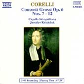 Corelli: Concerti Grossi Op 6 no 7-12 / Jaroslav Krcek, etc