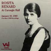 Rosita Renard at Carnegie Hall