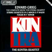 Grieg: Complete Music for String Quartet / Kontra Quartet