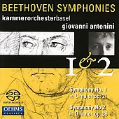 Beethoven: Symphonies no 1 & 2 / Antonini, Basel CO