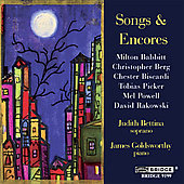 Songs and Encores - A Recital of American Song