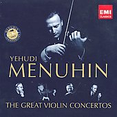 The Great Violin Concertos - Bach, Vivaldi, Mozart, Brahms, Beethoven, et al / Yehudi Menuhin