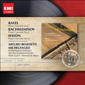 Ravel: Piano Concerto in G; Rachmaninov: Piano Concerto No. 4; Haydn: Piano Concerto No. 11 / Michelangeli, piano