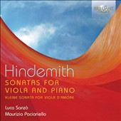 Hindemith: Sonatas for Violin and Piano; Kleine Sonata for Viola d'Amore / Luca Sonzò, violin; Maurizio Paciariello, piano
