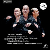 Brahms: German Requiem / Renate Arends, soprano; Thomas Oliemans, baritone; Jan Willem de Vriend, Residentie Orkest; The Hague Philharmonic; Rotterdam Symphony Chorus