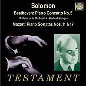 Beethoven: Piano Concerto no 5, Sonatas / Solomon, Menges