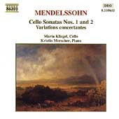 Mendelssohn: Cello Sonatas 1 & 2, etc / Kliegel, Merscher
