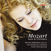 Mozart: Arias & Overtures / Helena Juntunen, Dmitri Slobodeniouk, Oulu Symphony Orchestra