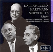 Dallapiccola, Hartmann, Schweintz: Lieder