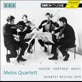 Melos Quartett Recital 1979 - Haydn: Quartet Op. 76/5; Fortner: Quartet no 4; Ravel Quartet in F / Melos Quartett
