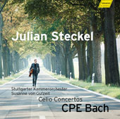 C.P.E. Bach: Cello Concertos Wq.170 - 172 / Jlian Steckel, cello; Stuttgart CO, Susanne von Gutzeit