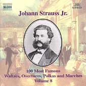 J. Strauss Jr.: 100 Most Famous Waltzes Vol 8