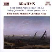 Brahms: Four Hand Piano Music Vol 12 / Matthies, Köhn