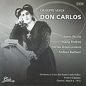 Verdi: Don Carlos / Capuana, Picchi, Pedrini, Barbieri
