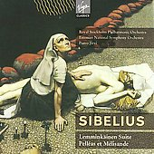 Sibelius: Lemminkäinen Suite, Pelléas et Mélisande Op 46, etc / Järvi, Stene, Mattei, Kringelborn, Paasikivi, Jonsson, et al
