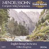 Mendelssohn: Complete String Symphonies Vol 3 / Boughton