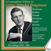 A Gramphone Tribute to Erling Blondal Bengtsson - Sonatas for cello by Beethoven, Brahms, Vivaldi, Boccherini. Encore pieces by Grieg, Sibelius, Milhaud, Saint-Saens et al. / Erling Blondal Bengtsson, cello
