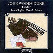 John Woods Duke: Songs / James Taylor, Donald Sulzen