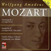 Mozart: Divertimento No. 3; Serenade No. 10