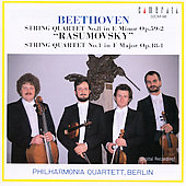 Beethoven: String Quartets No. 8 & No. 1 / Philharmonia