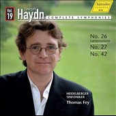 Joseph Haydn: Complete Symphonies, Vol. 19 - Nos. 26, 27 & 42 / Heidelberger Sinfoniker. Fey