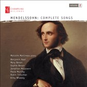 Mendelssohn: Songs, Vol. 2 / Benjamin Appl, Mary Bevan, Sophie Bevan, Jonathan McGovern, Paula Murrihy, Robin Tritschler, Kitty Whately. Malcolm Martineau, piano