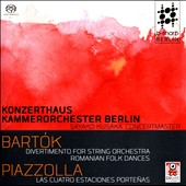 Bela Bartok (1881-1945): Divertimento for String Orchestra; Romanian Folk Dances; Astor Piazzolla (1921-1992): The Four Seasons of Buenos Aires / Konzerthausorchester Berlin, Sayako Kusaka