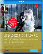 Mozart: The Marriage of Figaro, opera / Anett Fritsch, sop; Ann Murray, mz; Luca Pisaroni, Adam Plachetka, bass-bar; Vienna Philharmonic & State Opera Choir, Dan Ettinger [Blu-ray]