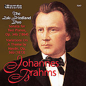 Brahms: Sonata for 2 Pianos, etc / Friedland, Zak