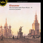Glazunov: Complete Solo Piano Music Vol 4 / Stephen Coombs