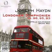 Haydn: London Symphonies Vol 1 / Bruno Weil, Cappella Coloniensis
