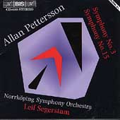 Pettersson: Symphonies no 3 & 15 / Segerstam, Norrk&#246;ping SO