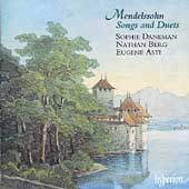 Mendelssohn: Songs and Duets Vol 1 / Daneman, Berg, Asti