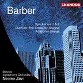 Barber: Symphonies 1 & 2, etc / Järvi, Detroit So