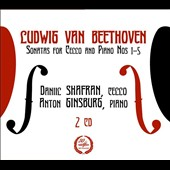 Beethoven: Sonatas for Cello and Piano, Nos. 1-5 / Daniil Shafran, cello; Anton Ginsburg, piano