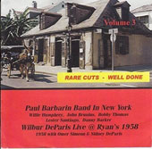 Paul Barbarin/Wilbur De Paris: Rare Cuts Well Done, Vol. 3