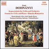 Dohn&aacute;nyi: Konzertst&uuml;ck for Cello & Orchestra, etc