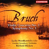 Bruch: Violin Concerto no 3, Symphony no 1 / Hickox, et al