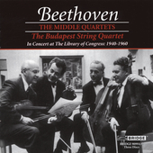 Beethoven: Middle String Quartets / Budapest String Quartet