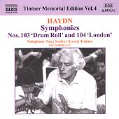 Tintner Memorial Edition Vol 4 - Haydn: Symphony no 103, 104