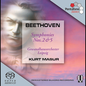 Beethoven: Symphonies no 2 & 5 / Masur, et al