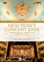 New Year's Concert 2006 From Teatro La Fanice / Masur, Cedolins, Calleja [DVD]