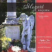 Mozart: Requiem, etc / Sorrell, Weigle, Apollo's Fire, et al