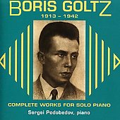Goltz: Complete Works for Piano Solo / Sergei Podobedov