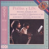Mozart: Sonata in D major for Two Pianos K. 448; Schubert: Fantasia in F minor / Murray Perahia and Radu Lupu, pianos (rec. 1984, 1990)
