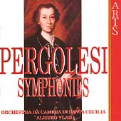 Pergolesi: Symphonies / Alessio Vlad, Santa Cecilia CO