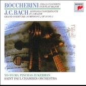 Boccherini: Cello Concerto in B flat major; J.C. Bach: Sinfonia Concertante in A major; Symphony Op. 18 No. 1 / Yo-Yo Ma, cello